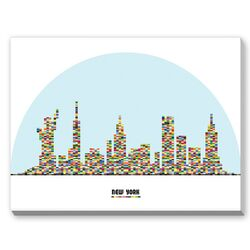 New York City Skyline Graphic Art on Canvas