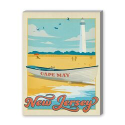 Cape May Vintage Advertisement Graphic Art