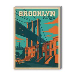 ASA New York City Brooklyn Vintage Advertisement on Canvas