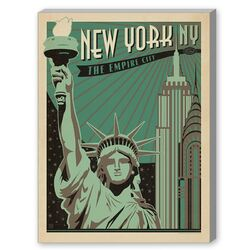 New York Empire City Graphic Art on Canvas