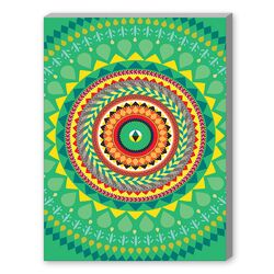 Tribal African Green Pattern Graphic Art on Canvas