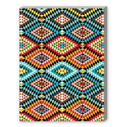 Tribal African Fabric Pattern Graphic Art on Canvas