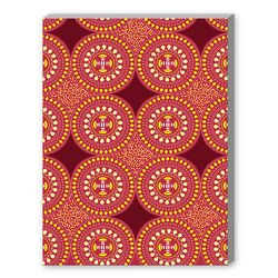 Tribal African Red Pattern Graphic Art on Canvas