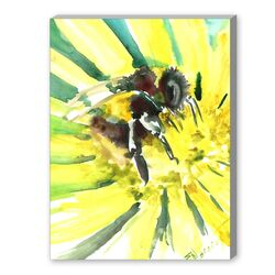 Flower Bee 3 Painting Print on Canvas