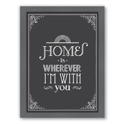 Home is Framed Textual Art