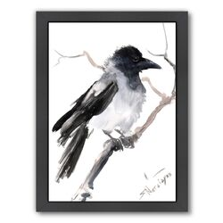Hooded Crow by Suren Nersisyan Framed Painting Print