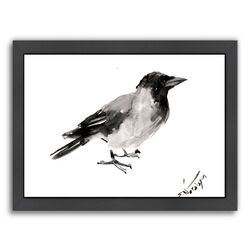 Hooded Crow 4 Framed Painting Print