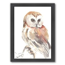 Owl 9 by Suren Nersisyan Framed Painting Print
