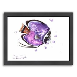 Angelfish 4 by Suren Nersisyan Framed Painting Print