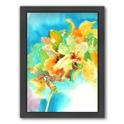 Yellow Orchid Framed Painting Print