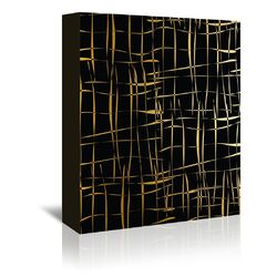 Cage Free Graphic Art on Wrapped Canvas in Black