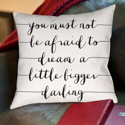 You Must Not Be Afraid to Dream a Little Bigger Throw Pillow