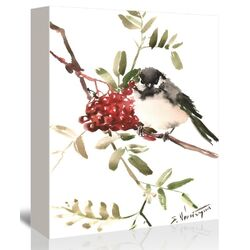 Chickadee 4 Painting Print on Gallery Wrapped Canvas