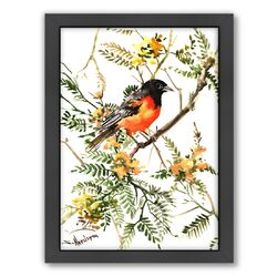 Baltimore Oriole by Suren Nersisyan Framed Painting Print