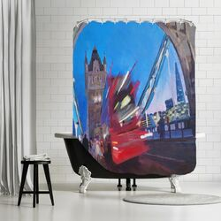 London Tower Bridge with Shard 2 Shower Curtain