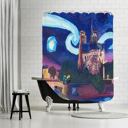 Starry Night in Paris Shower Curtain