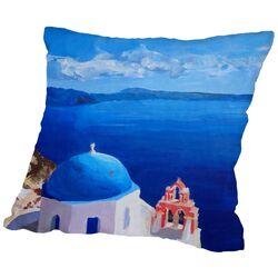 Santorini Iii Oia 2 Throw Pillow