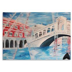 'Venice Rialto Bridge' by M Bleichner Painting Print on Canvas