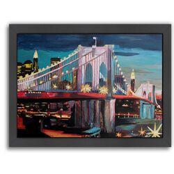 'NYC Bridge 3' by M Bleichner Framed Painting Print