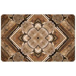 Rustic Wood Real Decorative Mat