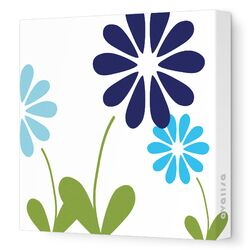 Imaginations Simple Floral Stretched Canvas Art
