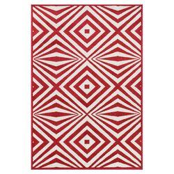 Catalina Red/Ivory Indoor/Outdoor Rug