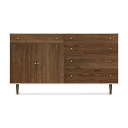 Mimo 4 Drawers and 1 Drawer over 2 Door Dresser