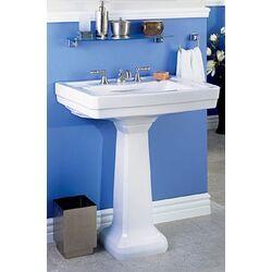 1920 Pedestal Sink : Foremost Series 1920 Petite Pedestal Bathroom Sink (Basin Only ...
