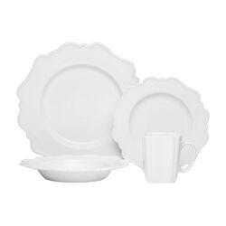 Pinpoint White 16 Piece Dinnerware Set