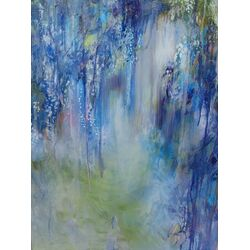 Rhapsody In Blue Painting Print on Wrapped Canvas