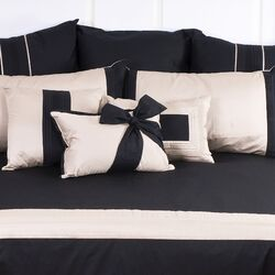 Tux Black Bow Cushion