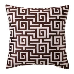 Greek Embroidered Throw Pillow
