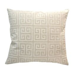 Greek Key Cotton Pillow
