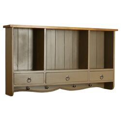 Oceans Apart French Painted 3 Drawer Wall Coat Rack