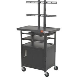 Adjustable Height Flat Panel TV Cart