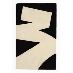 Brush Stroke White/Black Rug