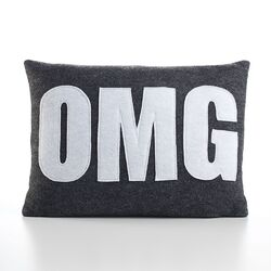 Modern Lexicon OMG Decorative Pillow