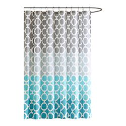Dani Polyester Printed Shower Curtain and Hook Set