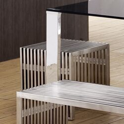 Novel Stainless Steel Entryway Bench