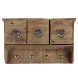3 Sectioned and 4 Hooked Cabinet
