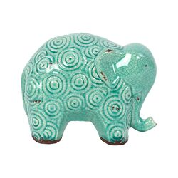 Stoneware Elephant Figurine