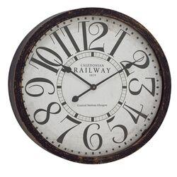 wood distressed clock wayfair