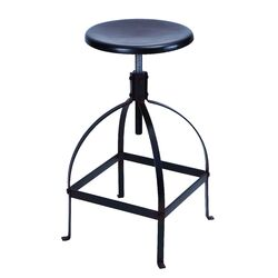 Sleek and Simple Adjustable Bar Stool