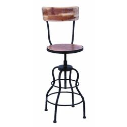 Old Look Adjustable Height Bar Stool