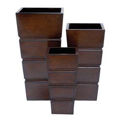 3 Piece Square Planter Set