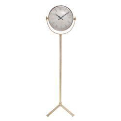 Double Sided Metal Floor Clock