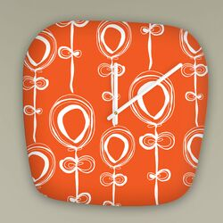 Rachael Taylor Contemporary Orange Clock