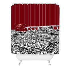 Bird Ave Woven Polyester University of South Carolina Dark Shower Curtain