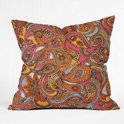 Valentina Ramos Spring Paisley Polyester Throw Pillow