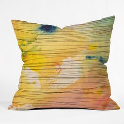 Susanne Kasielke Stripy Collage Throw Pillow